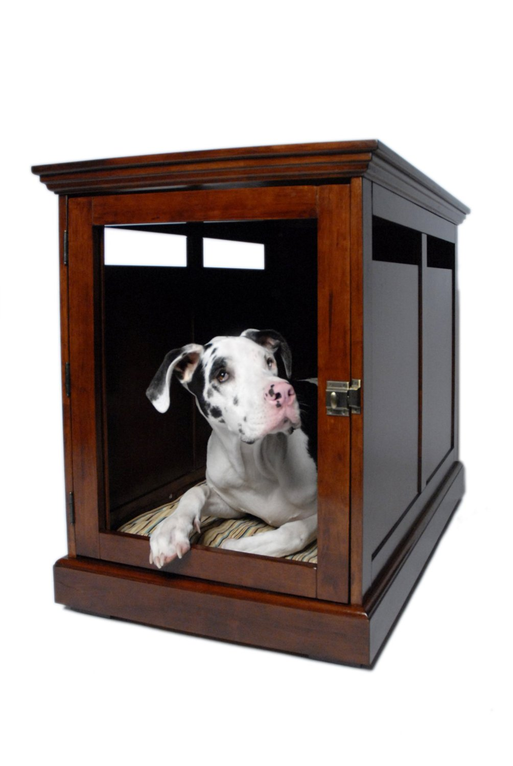 furniture denhaus wood dog crates. unique crates this designer dog crate offers a cozy space for your fourlegged companion  because the grate on door is removable you can opt to allow go  on furniture denhaus wood dog crates o