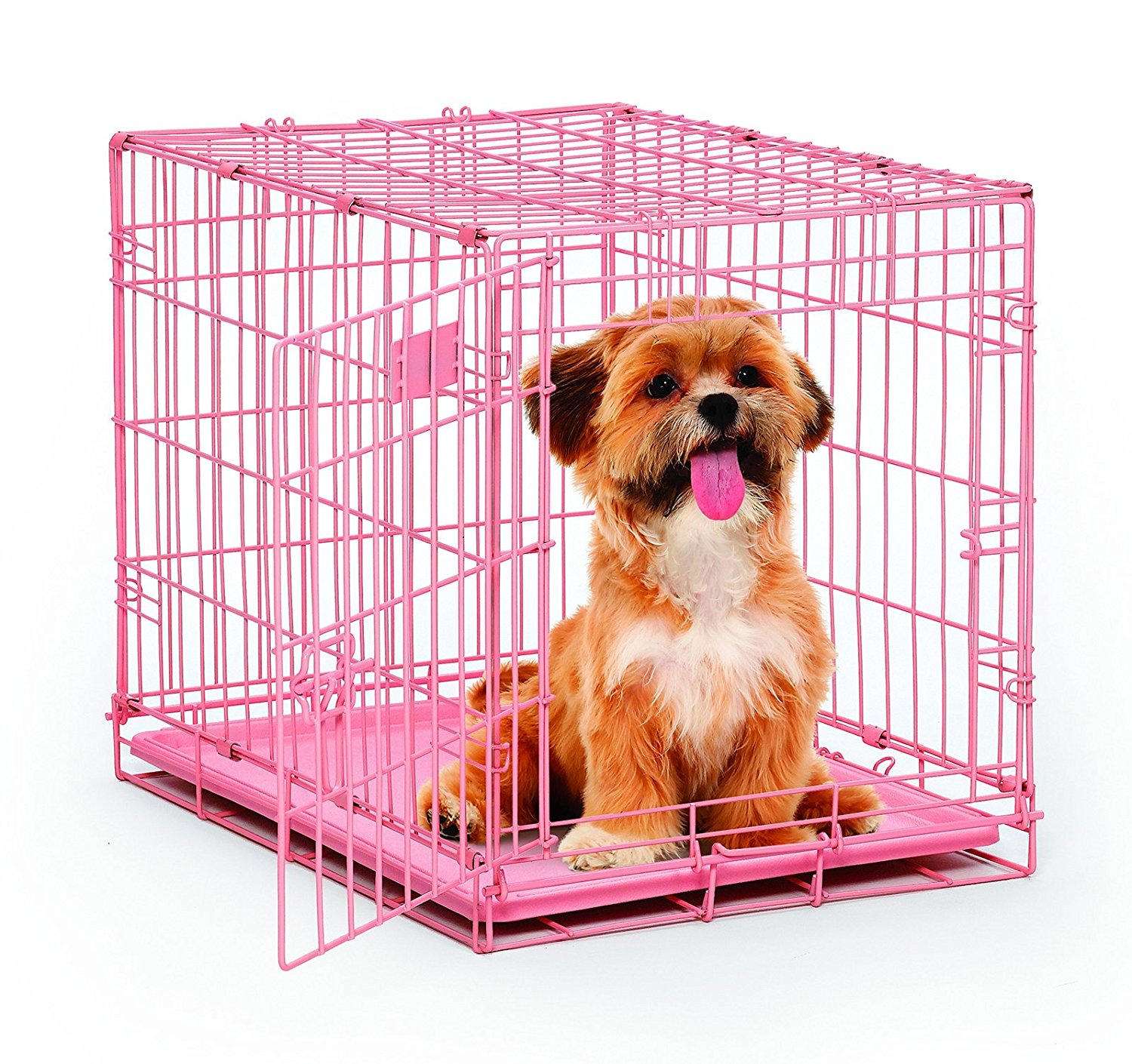 icrate folding metal dog crate by midwest homes for pets